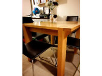Used, URGENT! M&S Oak Kitchen Table & 4 Faux Leather Chairs for sale  Ringmer, East Sussex