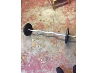 Weight training E-Z barbell cast iron