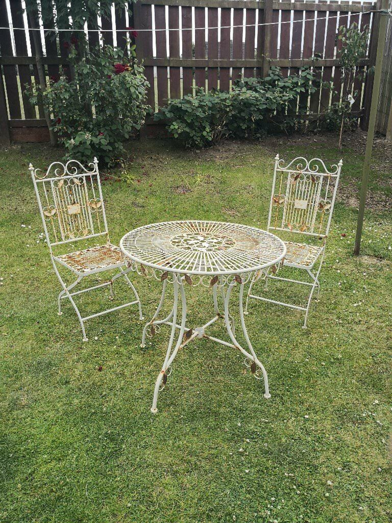 Wrought Iron Garden Bistro Set