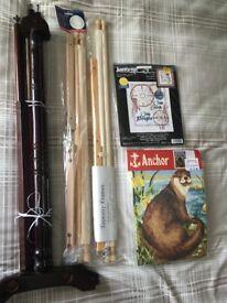 Job Lot Tapestry/Cross Stitch Frames and Kit & 1 other Needlework Kit