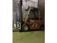 forklift truck double attachment