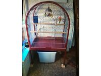Red parrot cage for sale