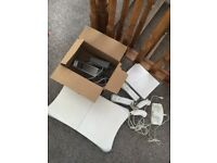 Nintendo Wii with balance board, games, charger etc
