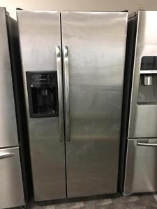 GE Stainless Side by Side Refrigerator - can deliver