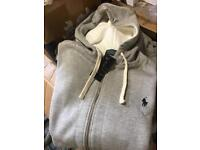 Grey Ralph Lauren tracksuit top