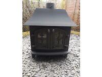 Large Yeoman 14/16 kw wood burner,log burner,woodburning stove