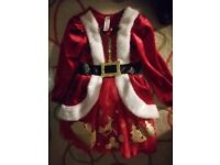 Santa and elsa dresses 3-4 yrs old. Can buy separately