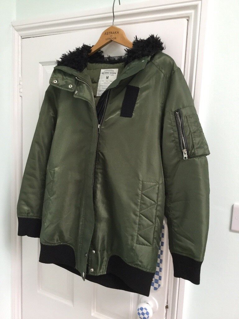 colours and striking classic shoes super specials Ladies longline hooded bomber jacket from Zara Size Medium | in Penenden  Heath, Kent | Gumtree