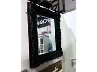Black Ornate Framed Mirror, 82cm x 107cm, £75