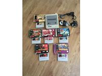 SNES CONSOLE SUPER NINTENDO ENTERTAINMENT SYSTEM WITH RARE GAMES GREAT RETRO BUNDLE