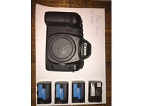 5D mk2 with lenses and lots of cards/batts/bag