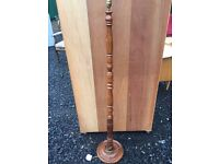Beautiful solid wood turned standard lamp in great condition