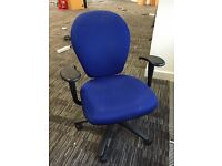 Task chair in blue