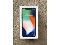 iPhone X, 256gb, brand new, unboxed.