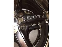 17 inch multi fit alloy wheels Nearly new tyres!