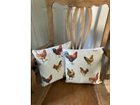 Chicken Cushions - NEW PAIR