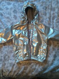 Baby girl silver next jacket