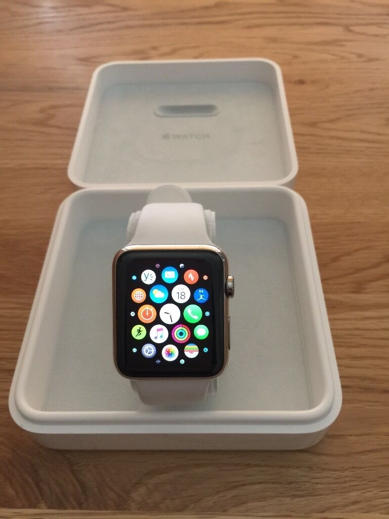 Apple Watch 42mmin Yeovil, SomersetGumtree - Apple Watch 42mm stainless steel with white strap. A little over 12 months old, worn occasionally, hence the reason for selling. Perfect condition, no scratches or marks at all. over £500 new. Note; this is not the lower priced Apple sports watch....