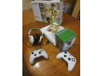 Xbox One S 500GB + 9 games + extra controller & headset (+4 Xbox 360 games for downloading)