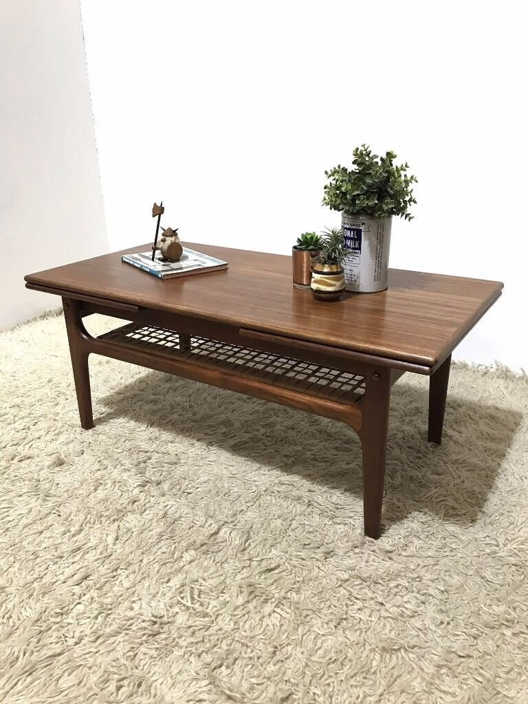 Extending Coffee Table 60s Original Vintage Mid Century Danish Teak Trioh Mobler