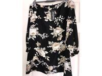 Boohoo Off-the-shoulder floral dress size 14