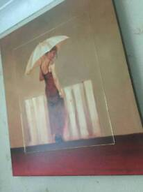 Picture print on canvas