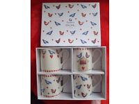 Set of 4 cups / mugs set *BRAND NEW IN BOX*