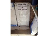 CENTRAL HEATING RADIATOR STELRAD Double Convector 450 mm high x 1000 mm long.