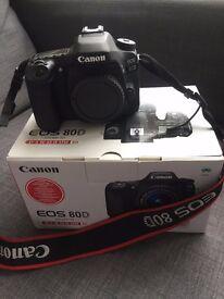 Canon EOS 80D 24.2 MP DSLR Camera - Like New!