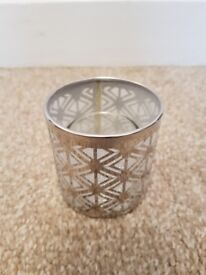Partylite enchanted silver votive holder candle