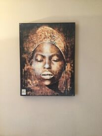 large African lady print from next
