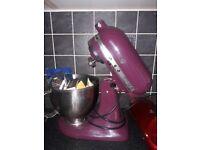 Kitchen Aid Artisisan 4.5 L mixer with extras