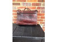Camel hide briefcase, fully lined, several compartments