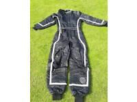 Child's Rookie K-3 kart suit plus OMP competition kart boot.