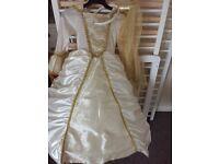 Princess dress and head piece 3-4 yr