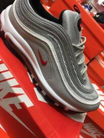 Nike air max 97 silver uk6 only left
