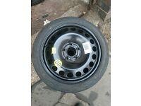 vauxhall space saver 115/70/16 tyre 5x110 vectra astra signum zafira