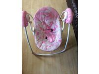 Bright starts girls swing chair