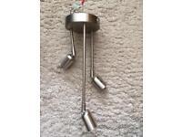 Chrome 3 LAMP seiling light/ kitchen light
