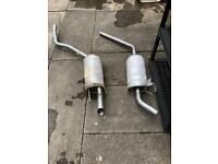 Volkswagen transporter centre & tail pipe exhaust pipes