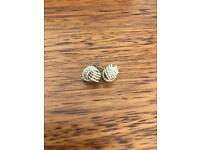 Tiffany Sterling Silver knot earrings. Worn