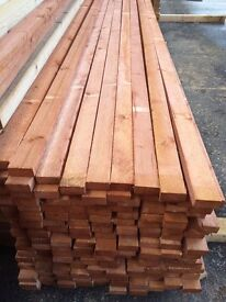 Lath 2x1 22mmx49mm 3m(10ft)£1.65 per length and 3.6m(12ft) £1.98 per length.