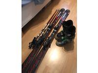 Atomic Head Ski boots (27), Head Integrate Skis (163cm), Scott Ski Poles