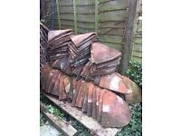 1930's Red Tuckers of Loughborough Hip Clay Bonnet Roof Tiles