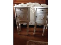 Two Shabby chic bedside tables £35 the pair