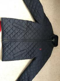 Ralph Lauren boys navy quilted stable jacket size Small age 8