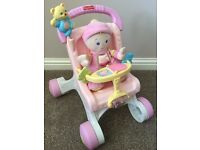 Fisher-Price My Stroll & Play Walker PLUS Fisher-Price Baby's 1st Doll