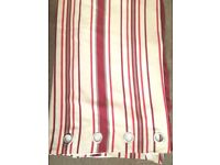 Next Red/Cream Stripe Curtains, 53' x 72'
