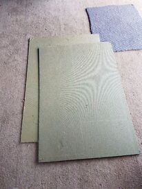New & Unused Underlay for Wood/Laminate/Tile floors. Fibreboard 5.5cm thick. Over 11m2 coverage