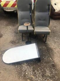 Welfare van Leather seats and table